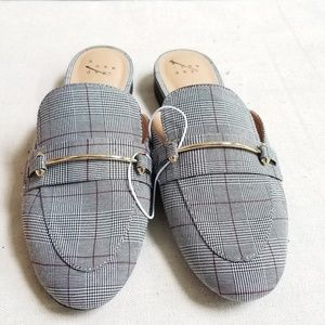 Women's A New Day Plaid Mules